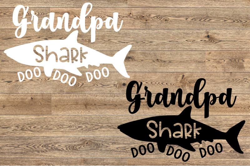 Grandpa Shark Svg Doo Doo Doo Father S Day Papa Sea World Shower