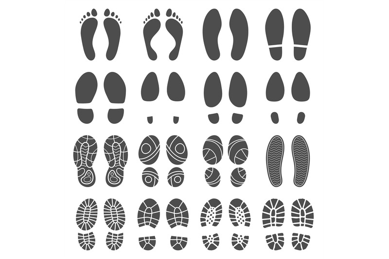 footprints-silhouettes-barefoot-steps-prints-boots-step-and-foot-fee