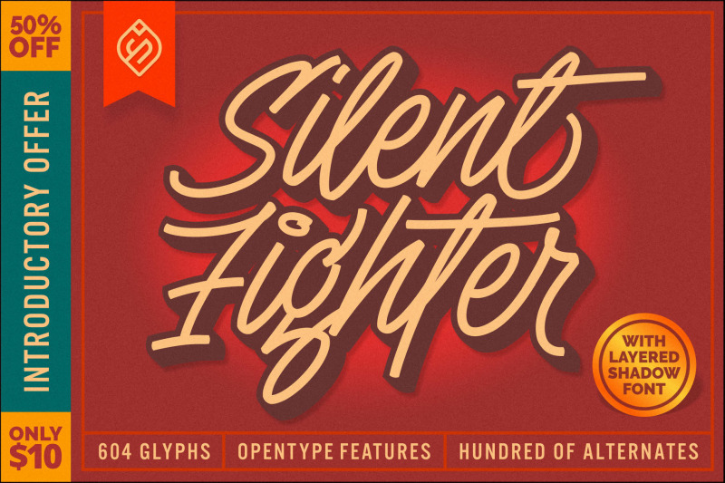 silent-fighter-3d-font