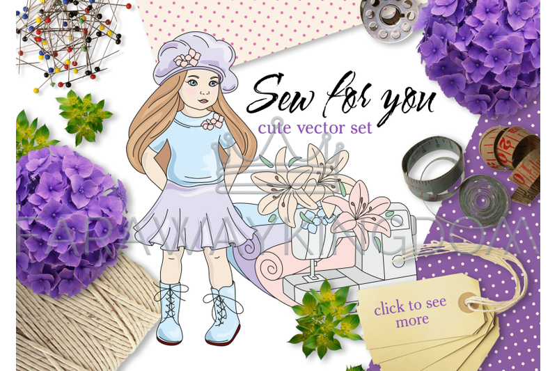 sew-for-you-sewing-cartoon-clipart-vector-illustration-set