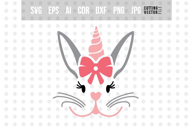 Bunny Unicorn Face Svg By Craftartshop Thehungryjpeg Com