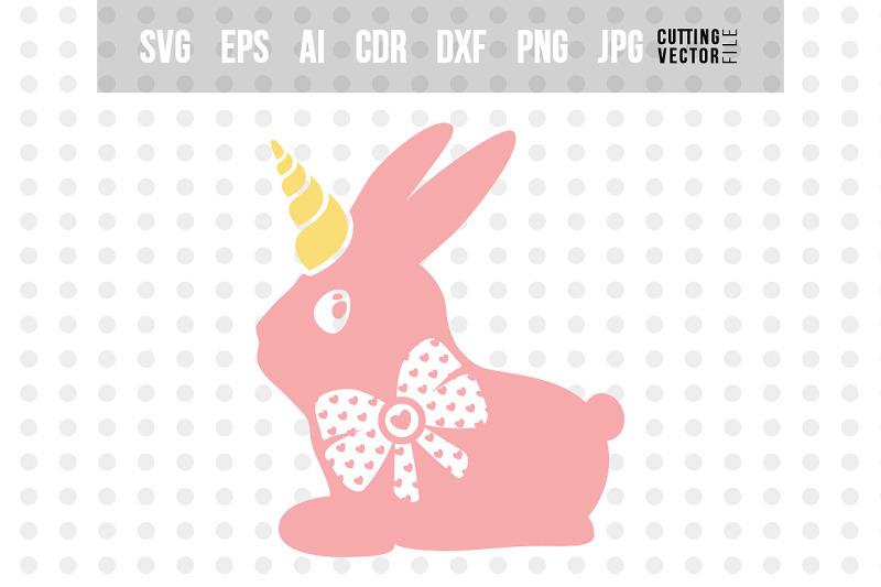 bunny-unicorn-svg-easter-vector