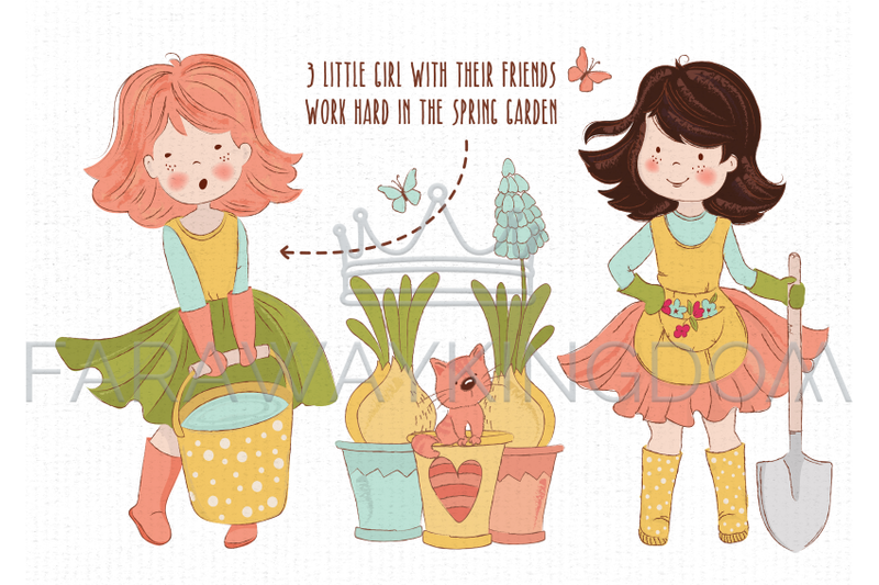 spring-garden-woman-season-nature-work-vector-illustration-set
