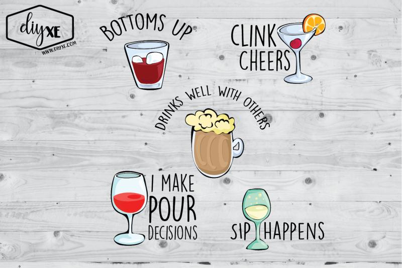 drinking-clipart-bundle