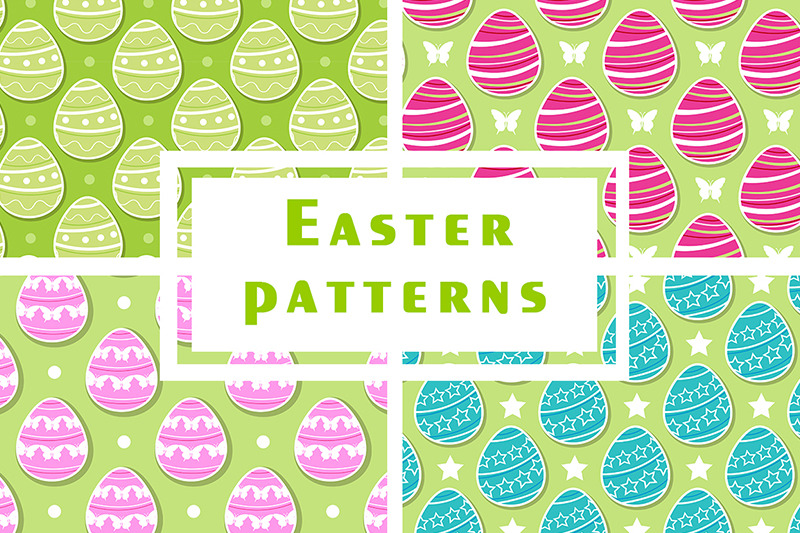 easter-seamless-patterns