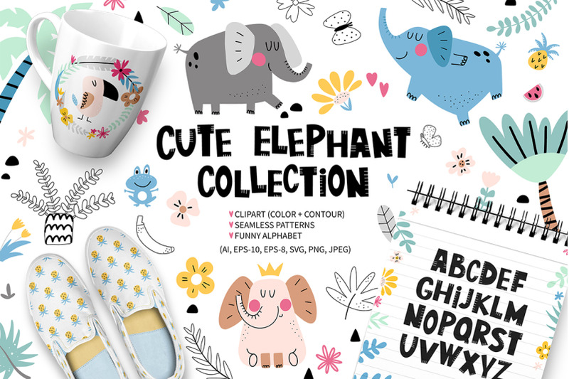 cute-elephant-collection