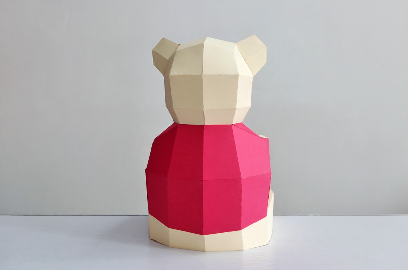 diy-teddy-bear-3d-papercraft