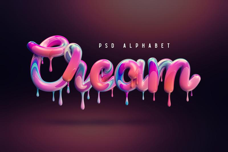 cream-alphabet