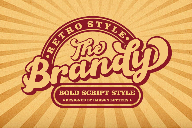 Download The Brandy Bold Retro Script Font Family From Haksen