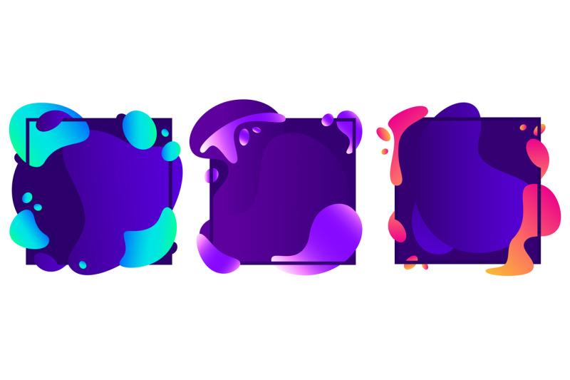 abstract-shapes-frames-modern-fluid-gradient-liquid-shape-motion-ban
