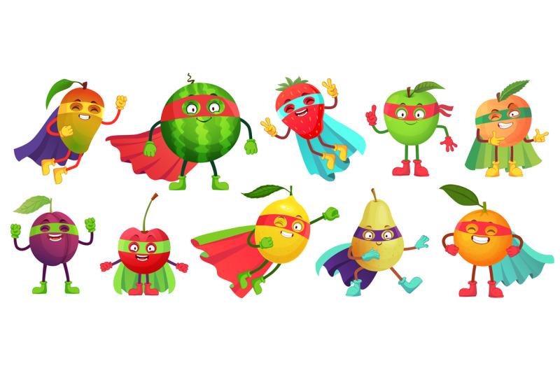 superhero-fruit-super-apple-berry-and-orange-in-hero-cloak-costume