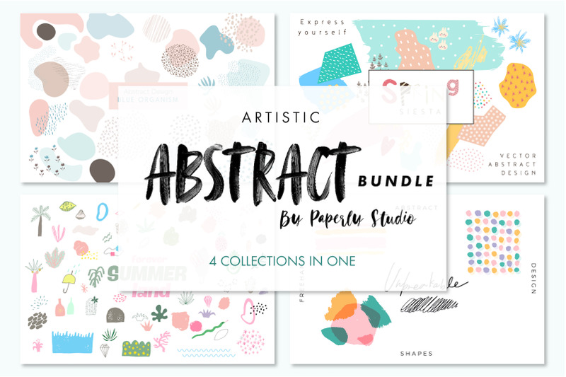 artistic-abstract-bundle-4-in-1