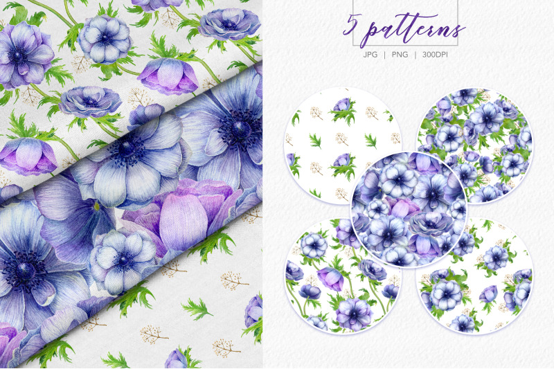 watercolor-anemone-set