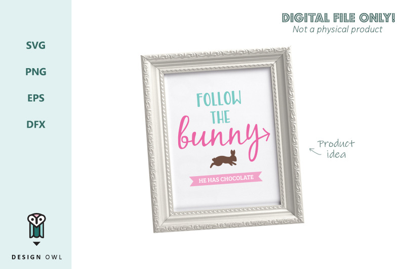 follow-the-bunny-svg-file
