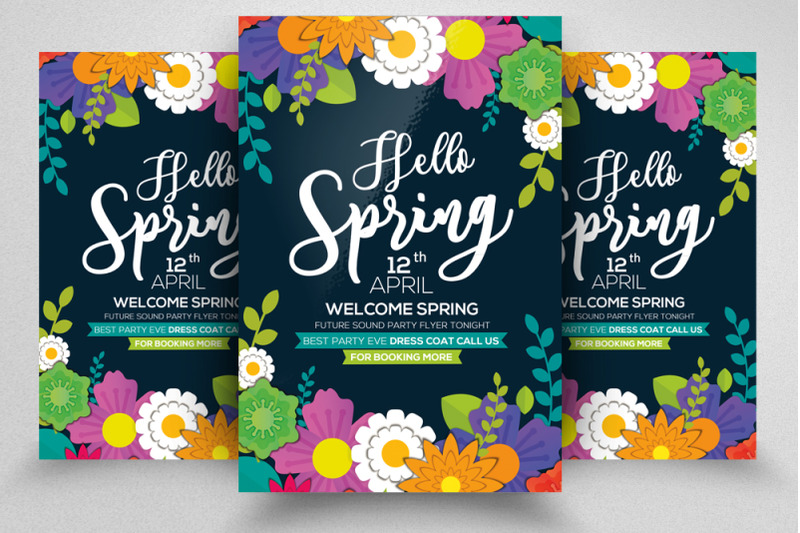 spring-party-flyer-template