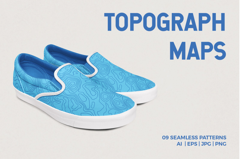 9-topographic-maps-seamless-patterns