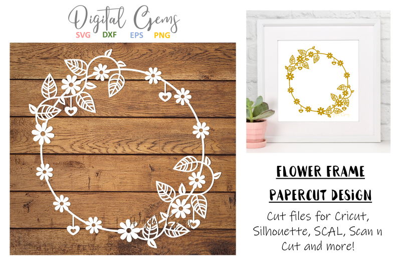 flower-frame-papercut-design