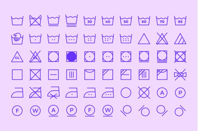 laundry-symbols-line-icons