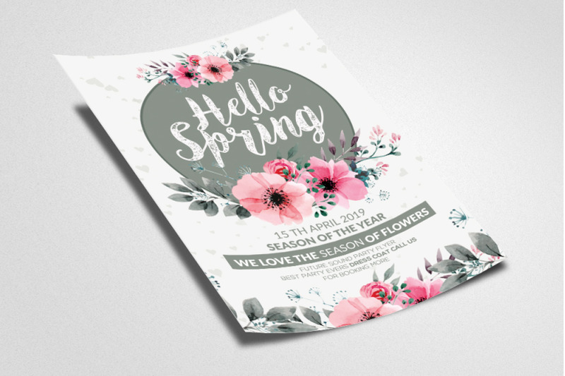 hello-spring-flyer-template