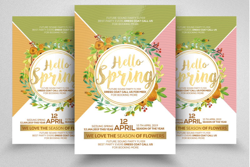 hello-spring-flyer-template