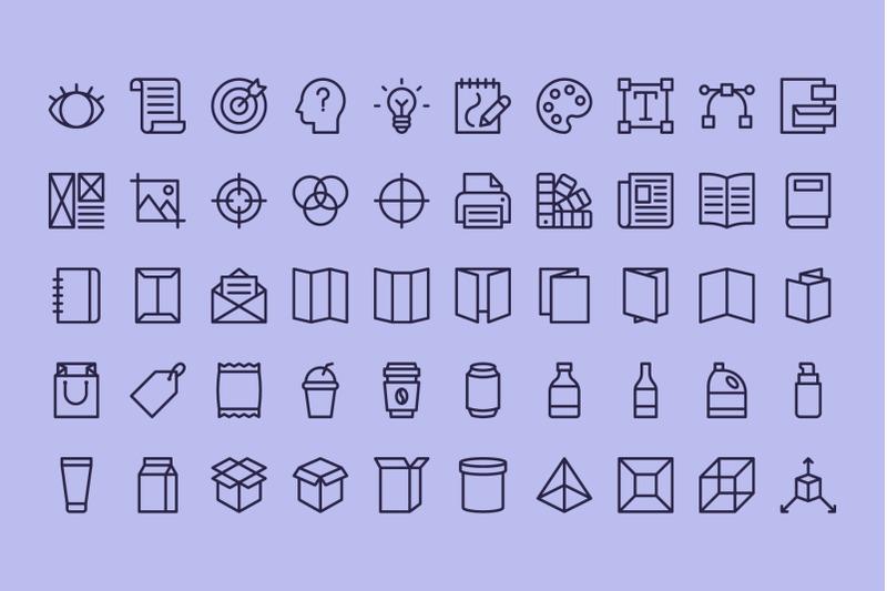 100-graphic-design-line-icons