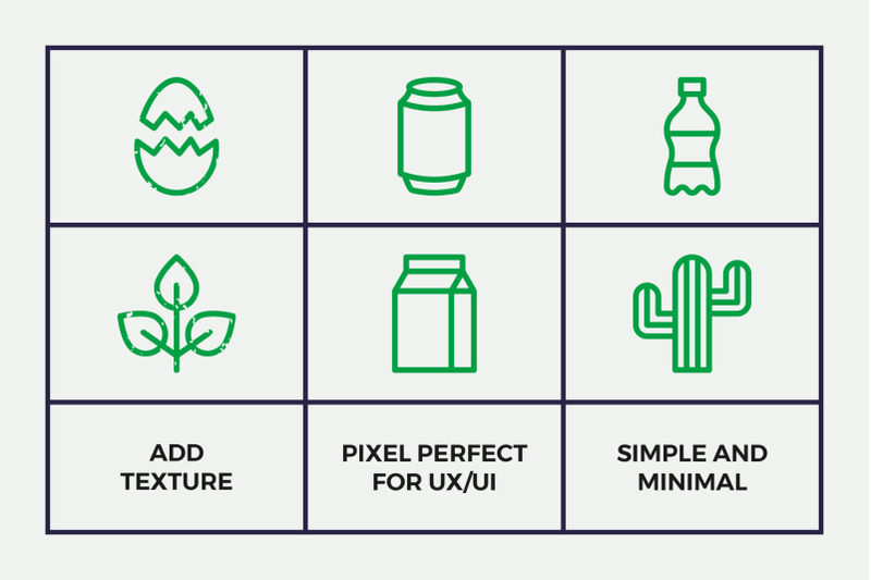 waste-recycling-line-icons