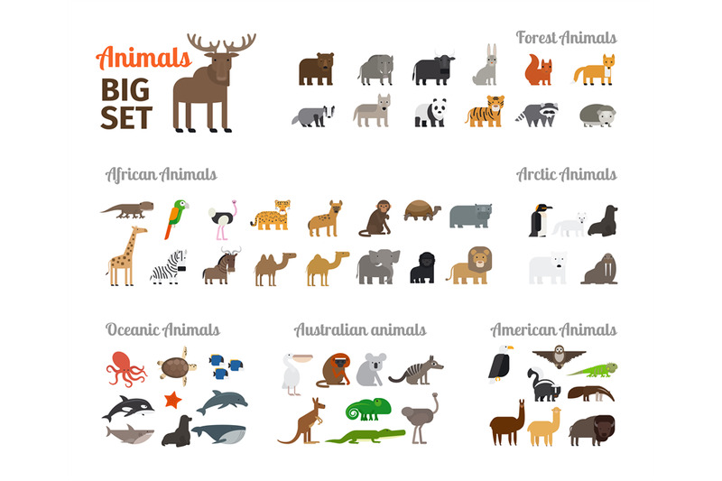animals-in-flat-style