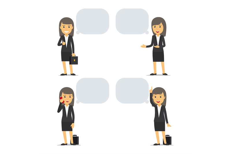 business-woman-with-speech-bubbles