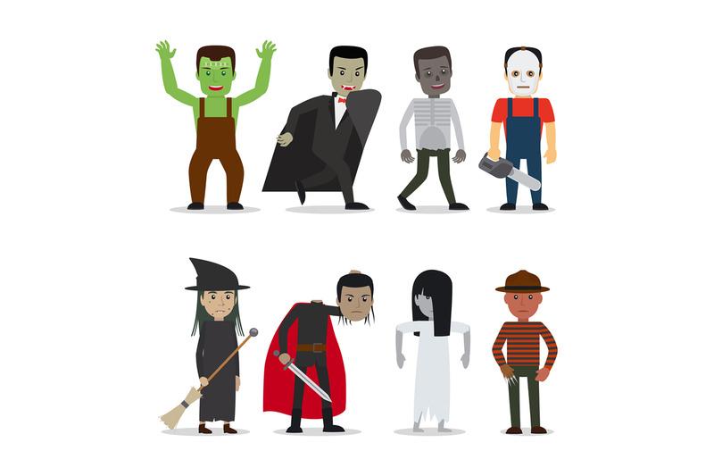 horror-characters-vector
