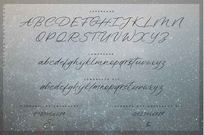 glitter-handwritten-font