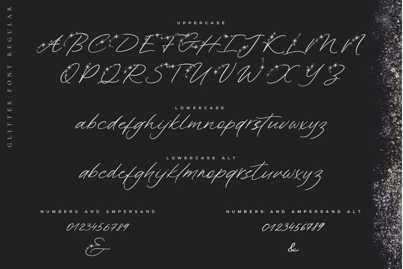 Glitter Handwritten Font By Anmark Thehungryjpeg Com