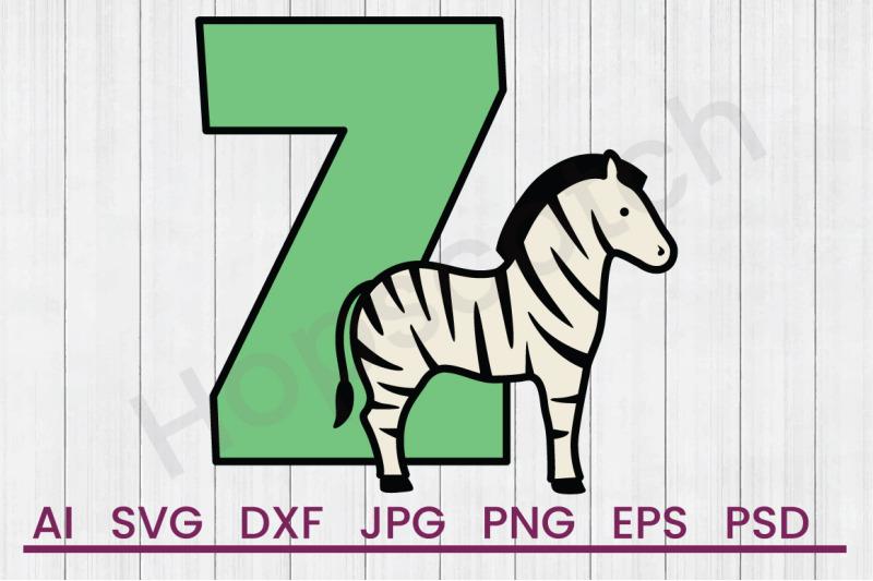 z-for-zebra-svg-file-dxf-file