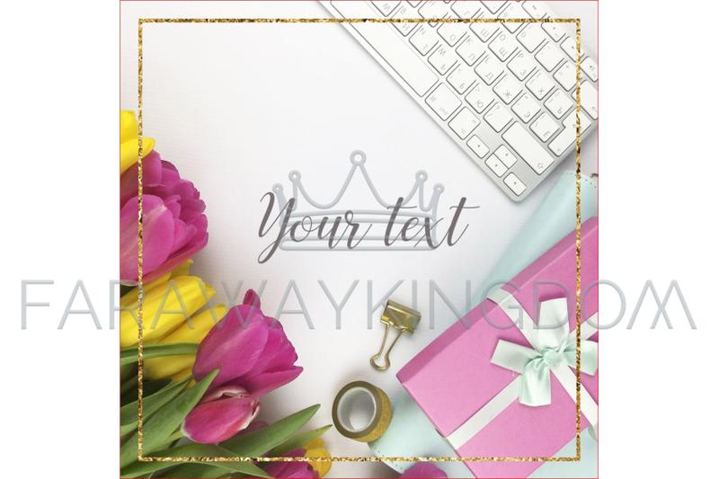 tulips-golden-lines-flower-internet-animated-template-set