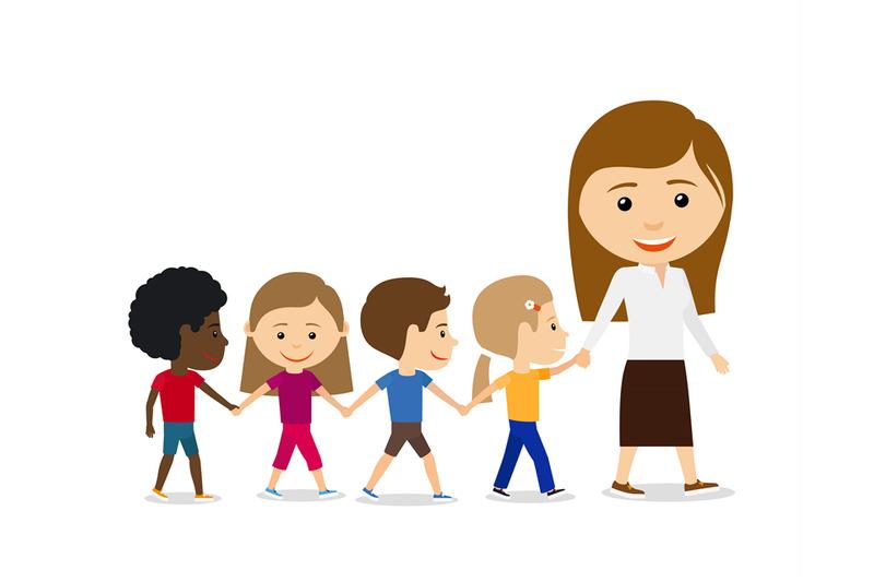 teacher-with-kids-on-white-background