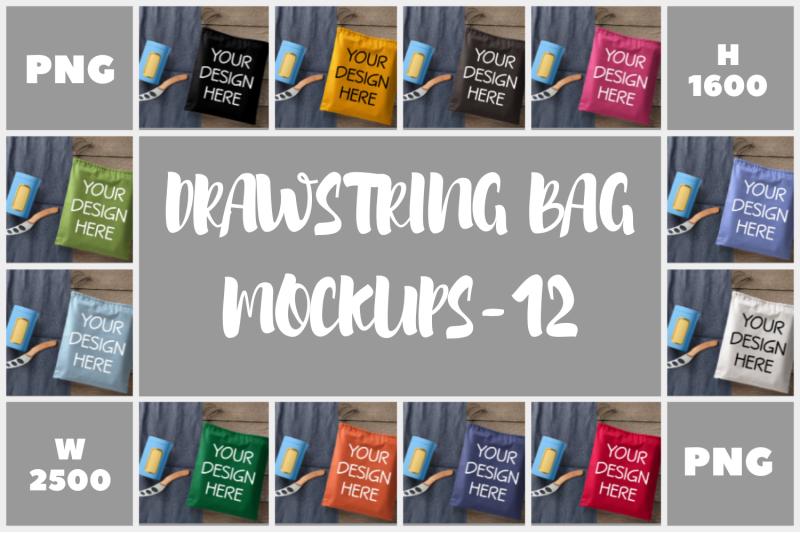 Free Drawstring Small Bag Mockups - 12 (PSD Mockups)