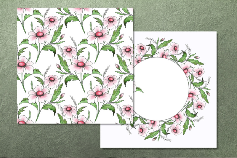 floral-simple-set-for-design