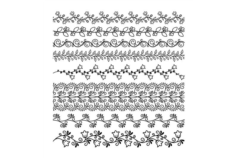 hand-drawn-floral-line-borders