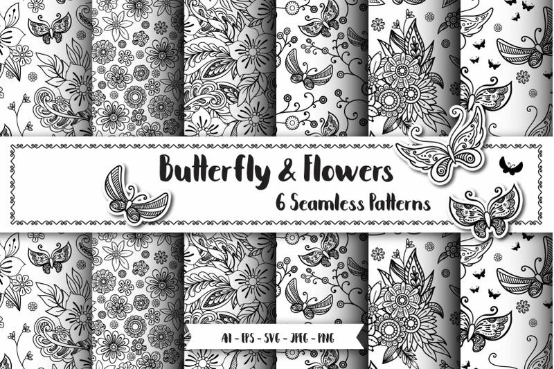 butterfly-seamless-patterns