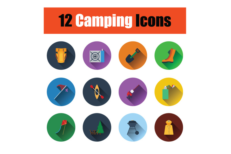 camping-icon-set