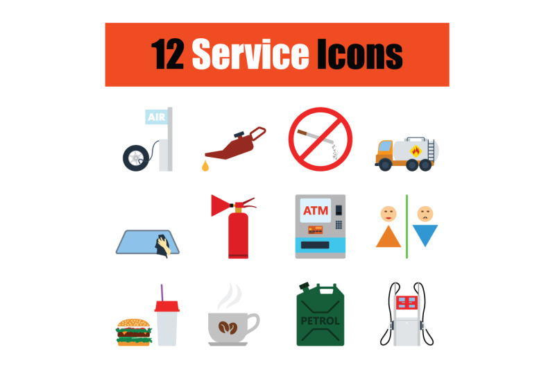 set-of-service-station-icons