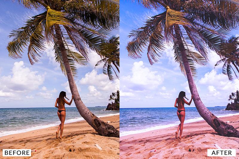 PHOTOSHOP: Summer Breeze Photoshop Action