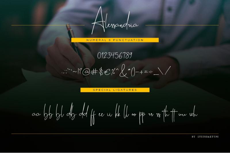 alessandria-signature-font