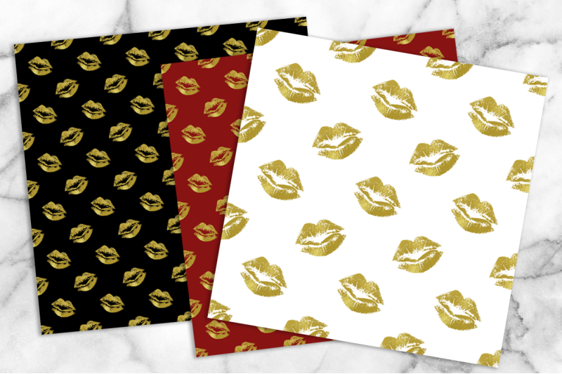 pretty-lips-patterned-paper