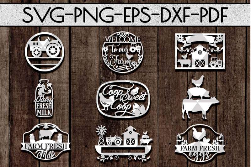 farm-decor-sign-papercut-templates-bundle-rustic-svg-dxf