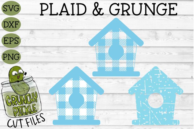 plaid-amp-grunge-birdhouse-svg