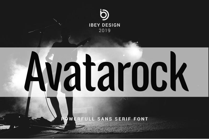 avatarock-modern-font