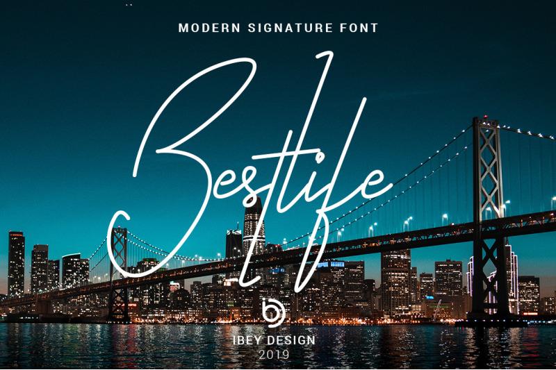 bestlife-single-line-font