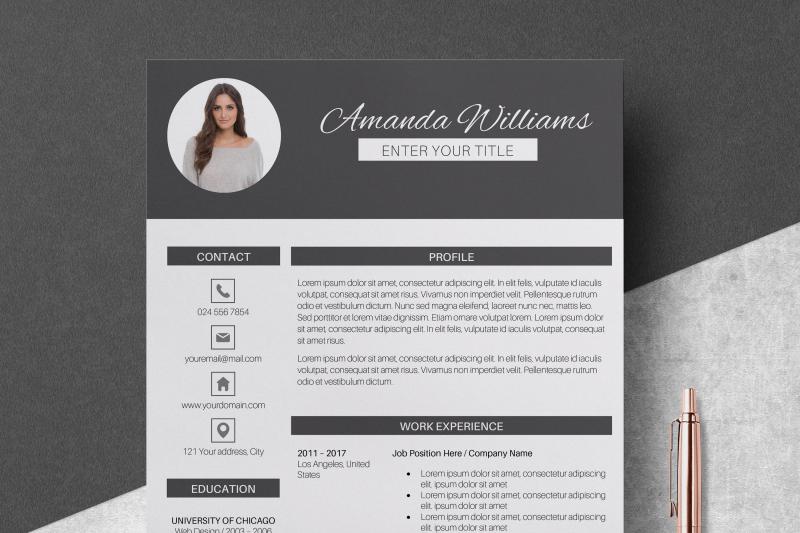 resume-template-cv-template-amanda