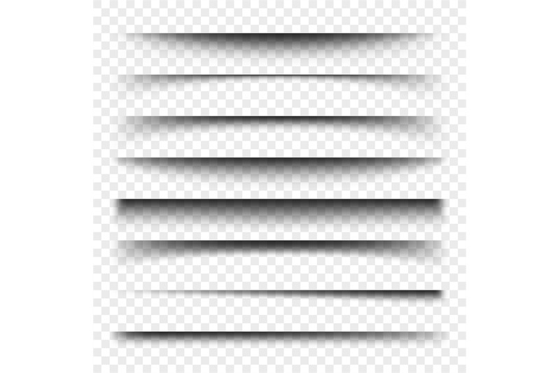 page-divider-with-transparent-shadows-isolated-pages-separation-vecto