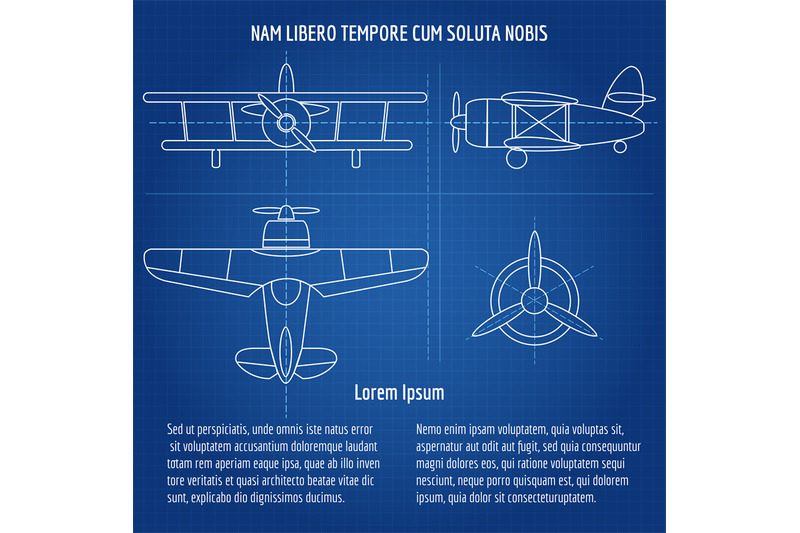 plane-vector-blueprint